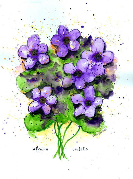 African Violets - Buster Bone