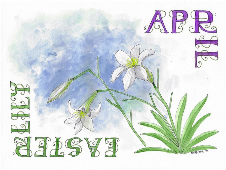 April - Easter Lily - Buster Bone