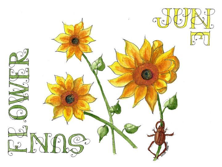 June-Sunflower - Buster Bone