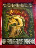 spartan helmet original painting
