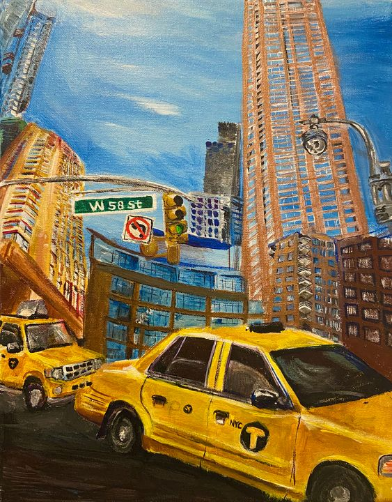 NYC taxi diptych - Val's Perspective
