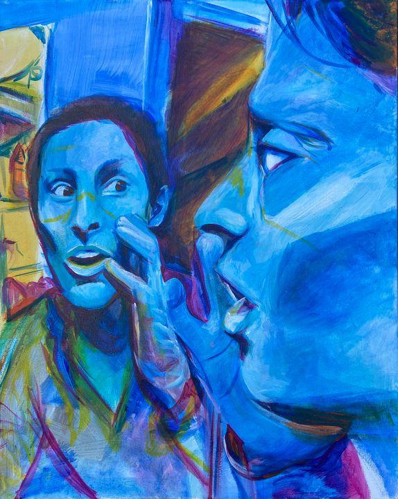 Self portrait doffing mask - Val's Perspective
