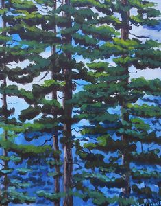 Newman Christmas Trees.Christmas Trees In The Snow Briste Paintings Prints