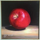 Red apple original painting
