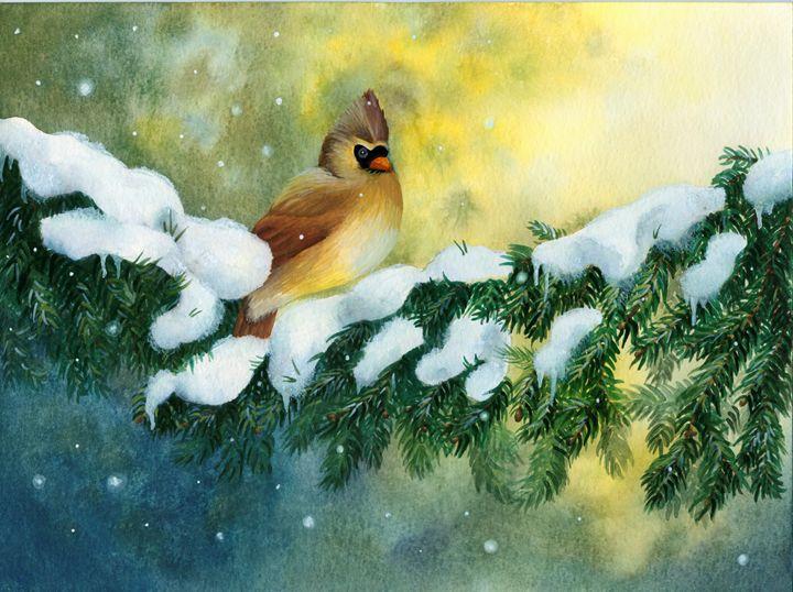 Female Cardinal - Rebekah's Nature Art