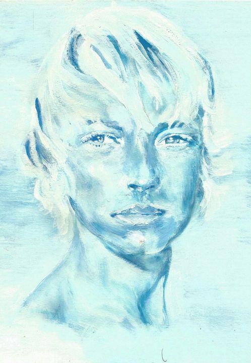 portrait bleu - C art