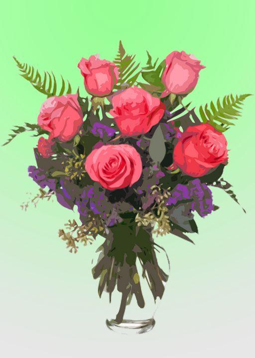 Flower Vase AF - De Villa Artworks
