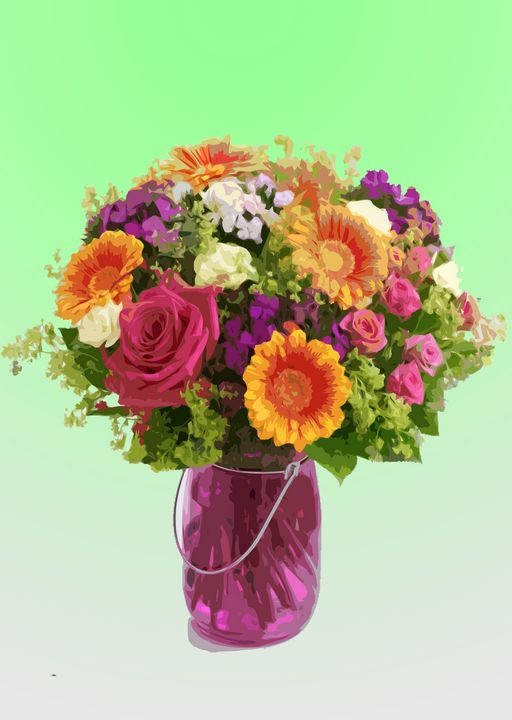 Flower Vase AH - De Villa Artworks