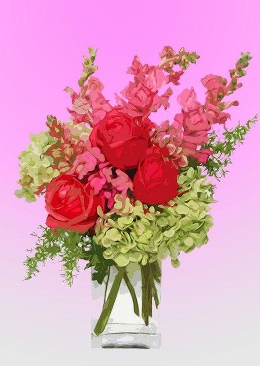 Flower Vase AQ - De Villa Artworks