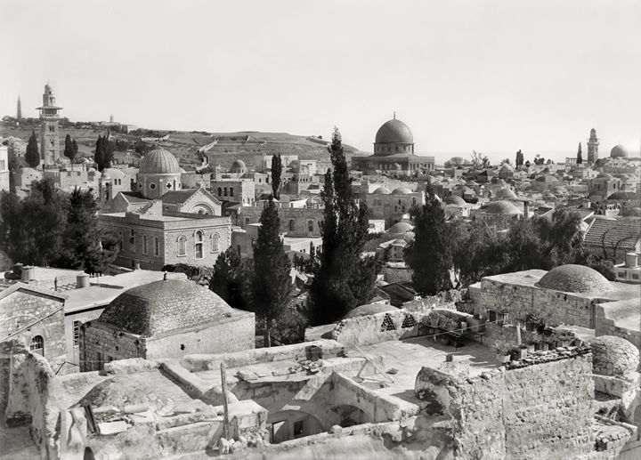 Jerusalem, churches and mosque - Images of the Middle East and the Holy Land