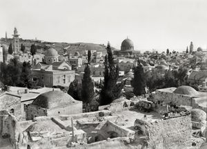 Jerusalem, churches and mosque