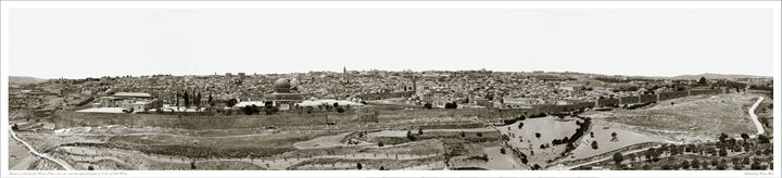 Panoramic View of Jerusalem - Images of the Middle East and the Holy Land