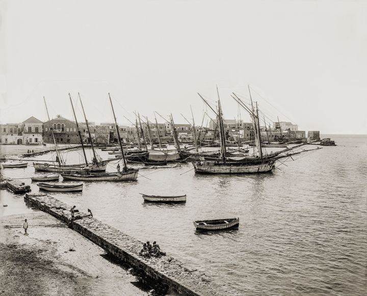 Harbour at Tyre (Sur), Lebanon, 1930 - Images of the Middle East and the Holy Land