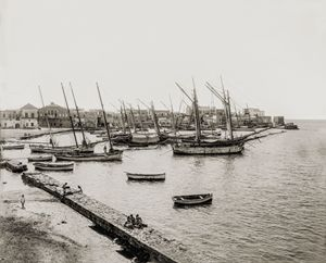Harbour at Tyre (Sur), Lebanon, 1930