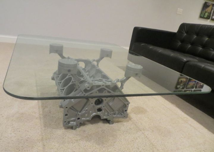 Metallic Silver Coffee Table - BlockHead Designs