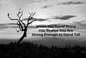 When You Stand Alone