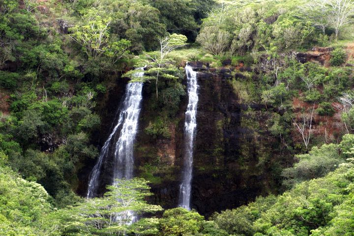 Double Waterfall in the Canyon - JAJ Photography