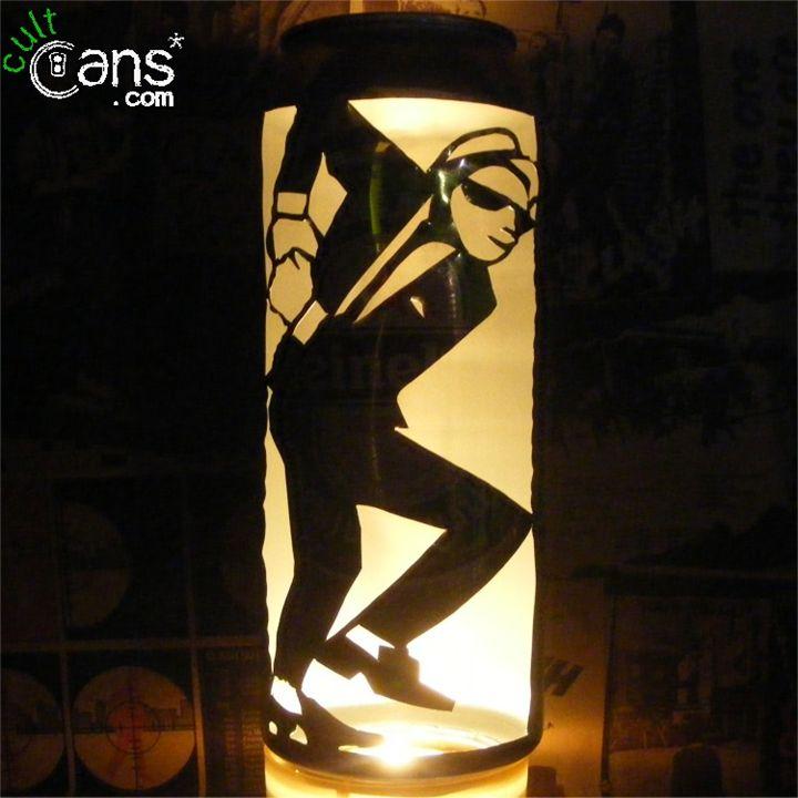 2-Tone Dancer Beer Can Lantern -  Daveneedle