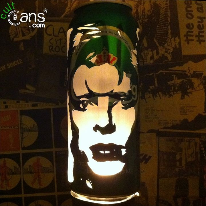 David Bowie Beer Can Lantern -  Daveneedle