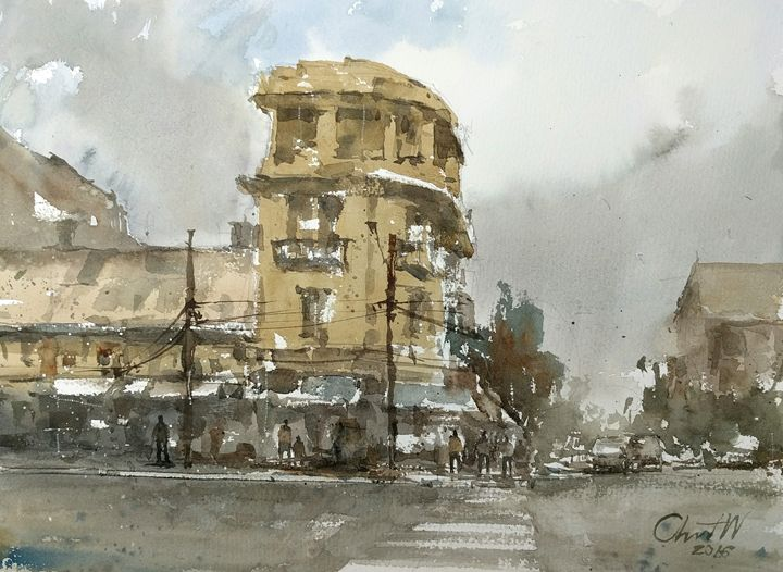 Bangkok Oldtown - Chanont Watercolor