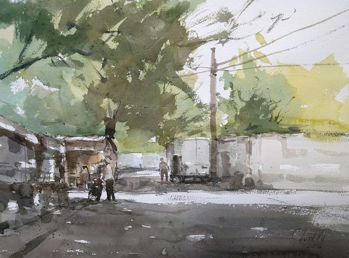 Green junction - Chanont Watercolor