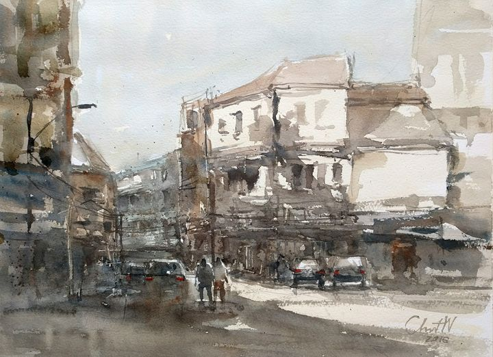Songward Street, Bangkok - Chanont Watercolor