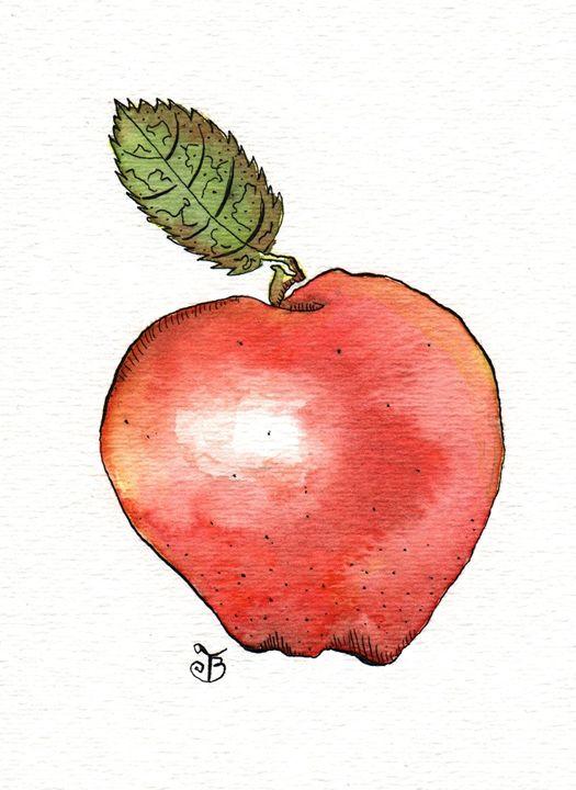 Red Delicious Apple - Tawnya Boe Art