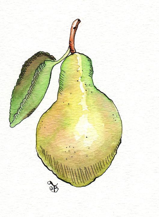 Yellow Pear - Tawnya Boe Art