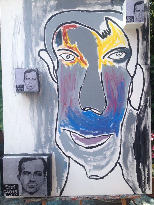 Oswald Mug Shot - Art by Peter J. Dellolio