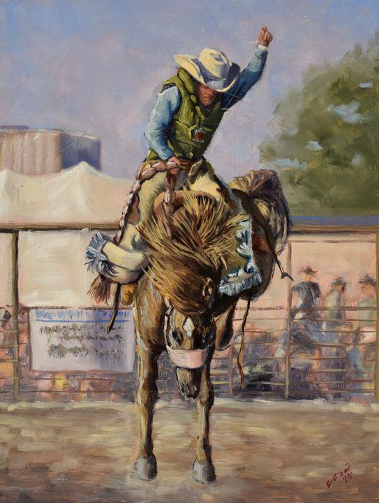 Saddle Bronc Riding - Elisa Arancibia -Studio