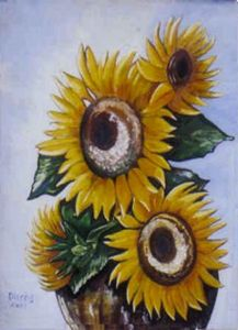 Sunflowers in an Urn