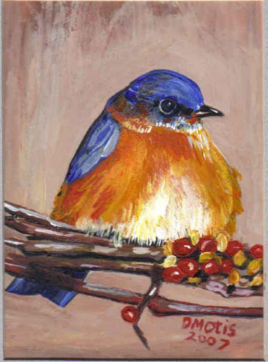Beautiful Pouty Baby Bluebird - DMO