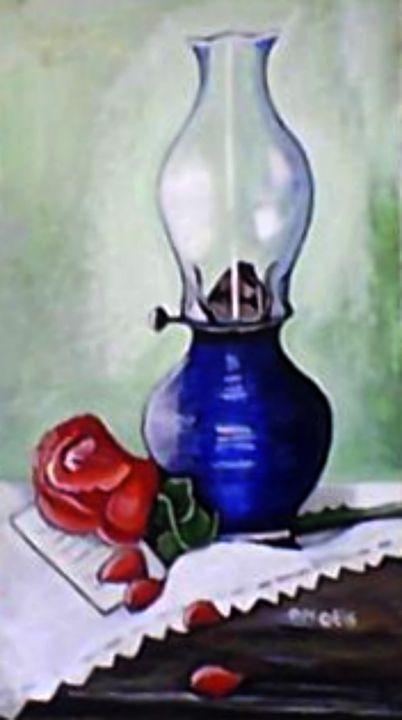Oil Lamp and Rose - DMO