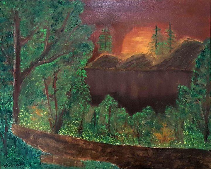 Bob Ross style painting - Syeda Maham Riaz