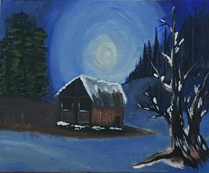 Snowy little cottage