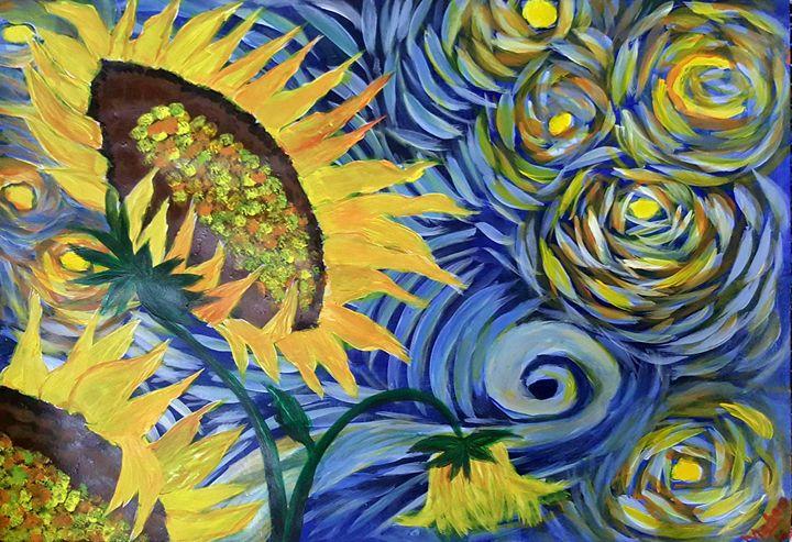 Van Gogh Syeda Maham Riaz Paintings Prints Flowers Plants