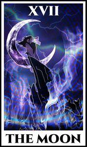 The Moon - Lion King Tarot Series