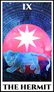 The Hermit Tarot - The Lion King