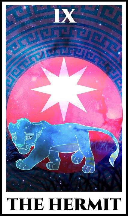 The Hermit Tarot - The Lion King - Basha the Astrologer