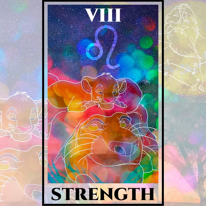 Strength Tarot - The Lion King - Basha the Astrologer