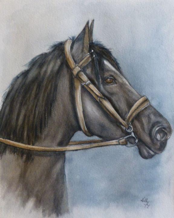 Horses Best Side Original Painting - Kelly Mills Paintings