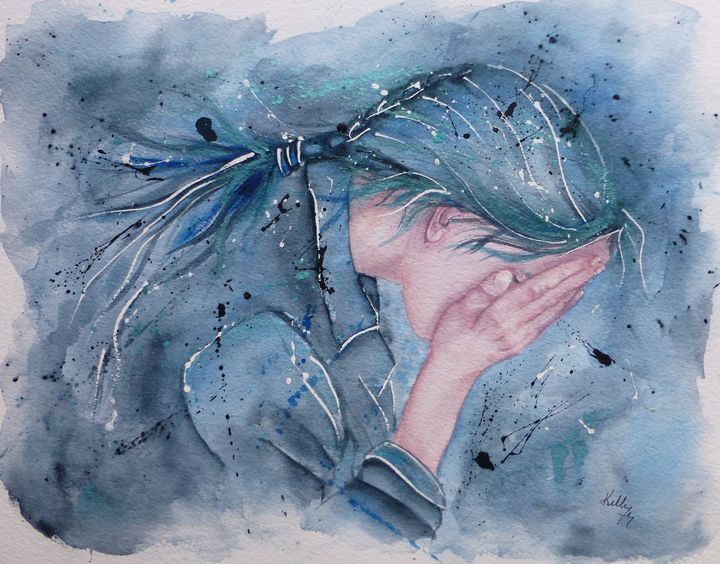 The Cry... a Powerful Emotion! - Kelly Mills Paintings