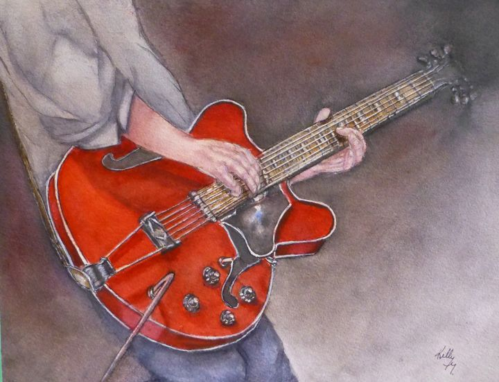 Electric Guitar Moves - Kelly Mills Paintings