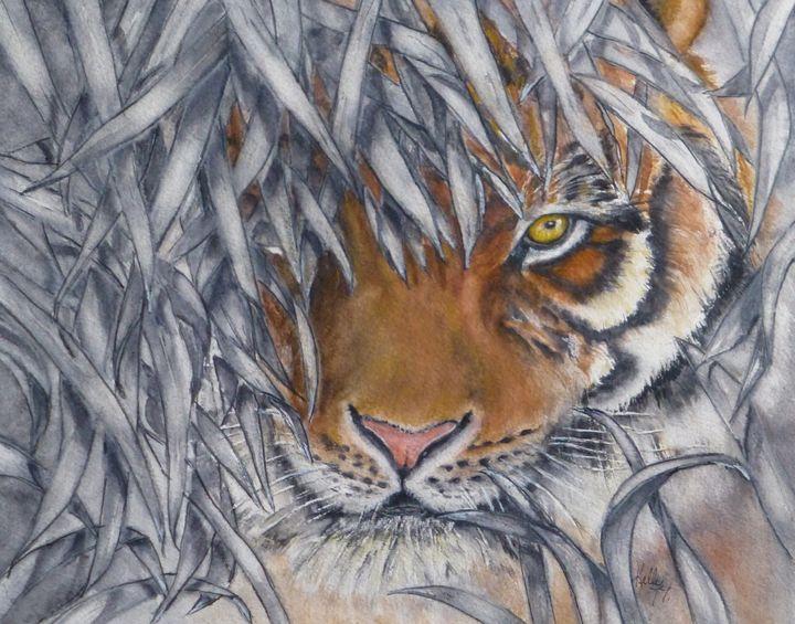Lurking Tiger - Kelly Mills Paintings