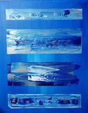 blue abstract art work