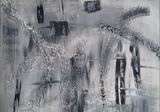 abstract painting black and white