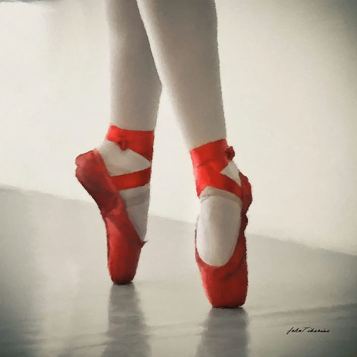 Red ballerina flats - John Tiberius aka Johny Rebel
