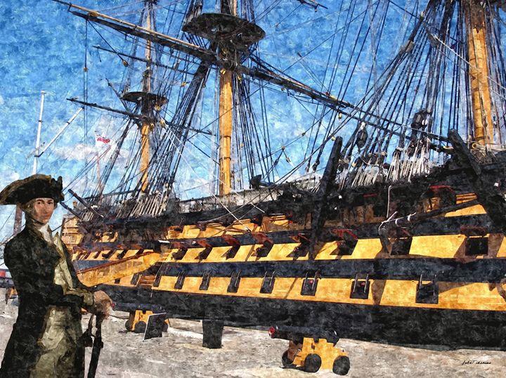 Horatio Nelson and HMS Victory - John Tiberius aka Johny Rebel