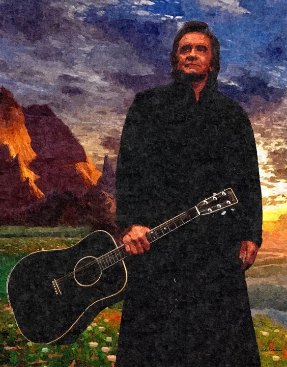 Johnny Cash - King of country music - John Tiberius aka Johny Rebel