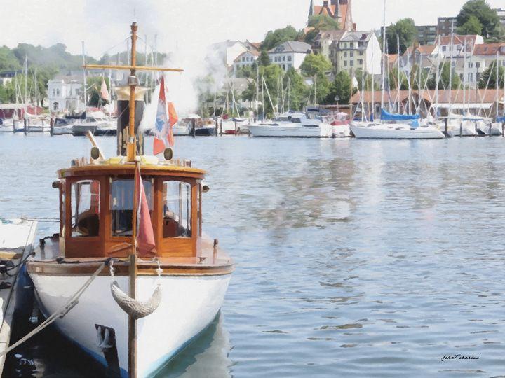 Boat on the lake - John Tiberius aka Johny Rebel